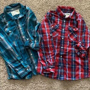 Boys XL long sleeve button up shirts